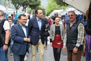 José Ortiz, Tocón y MAH en mercadillo